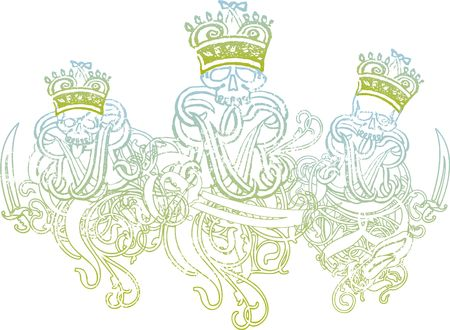 3 king skeleton illustration Reklamní fotografie