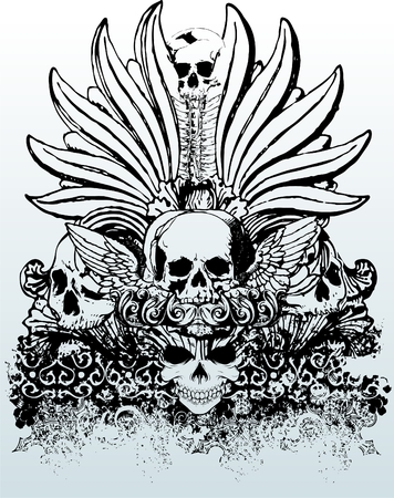 Tribal skull vector illustration