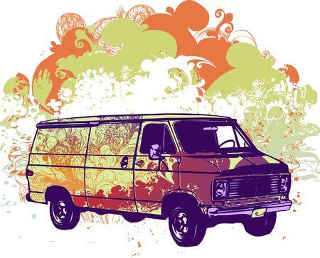 Grunge van vector illustration
