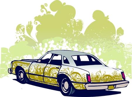 Grsafitti car vector illustration Illustration