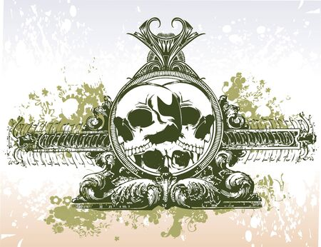 Skull portal vector illustration