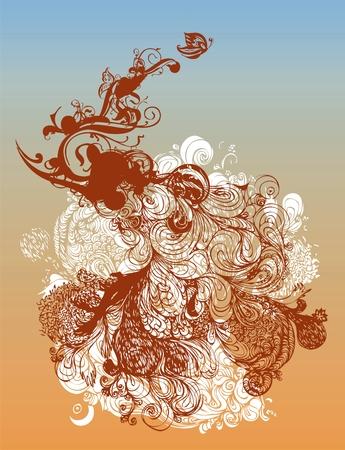 Stylized grunge vector illustration