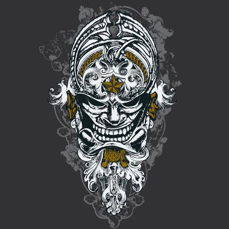 Wicked Mask Illustration