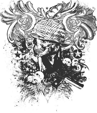 War is hell vector illustration