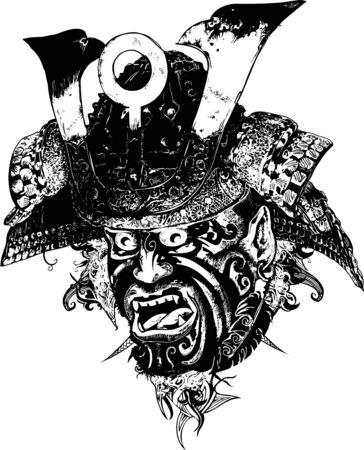 guerrero samurai: Samurai Warrior Ilustraci�n Vectores