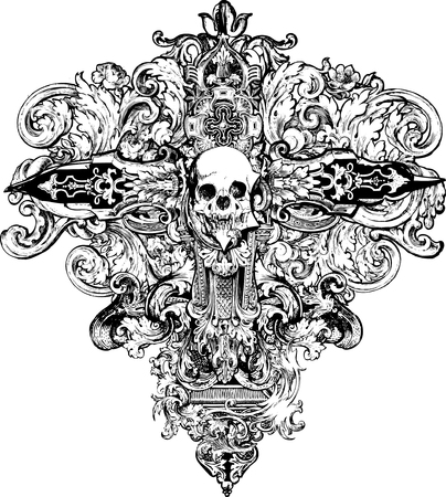 goth:  Great for backgrounds, t-shirts, apparel and illustrations! Illustration