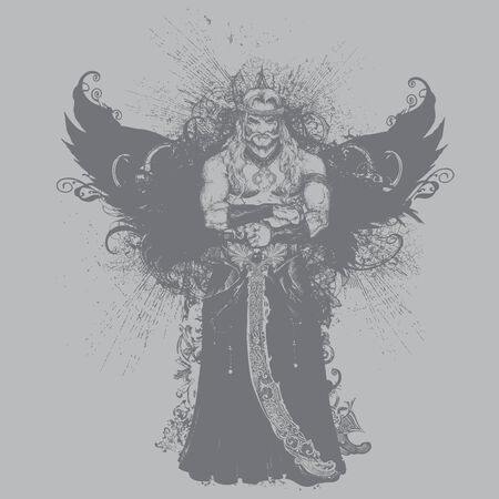 demonic: Great for apparel, t-shirts, illustrations and backgrounds!