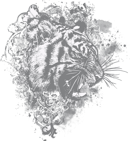 growl: Great for backgrounds, illustrations and apparel designs!