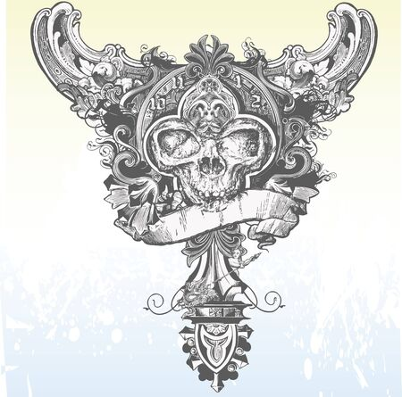 devil's bones: Great for apparel designs, illustrations and t-shirts! Stock Photo