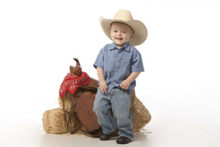 little cowboy standing Stock Photo - 4888592