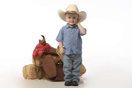 little cowboy with hat Stock Photo - 4888593
