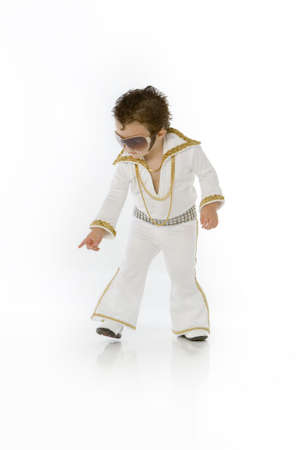 Little elvis with glasses Stock Photo - 5033877