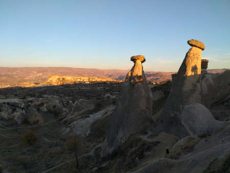 Cappadocia volcanic tuff formation Stock Photo