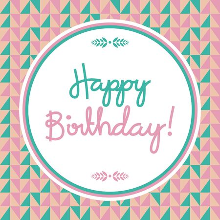 ecard: Illustration Featuring a Birthday Card with a Pink and Blue Background