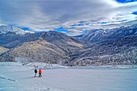 downhill: Downhill skiing resort