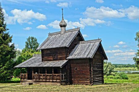 ligneous: Wooden church architecture Stock Photo