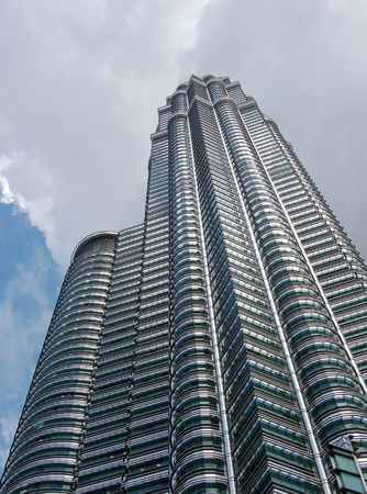 the famous petronas towers-tallest buinding in the world