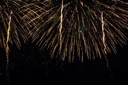 celebratory event: close up of firework display against black background Stock Photo