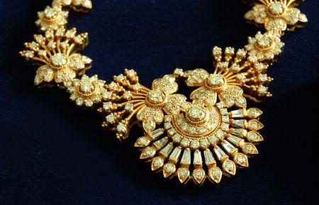 a beautiful diamond necklace photo