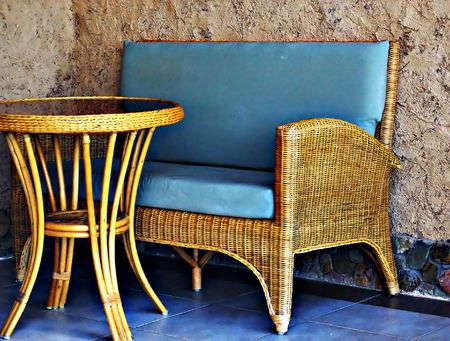 wicker furniture photo