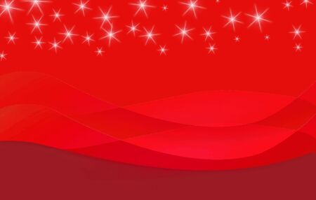 an abstract background in red with stars