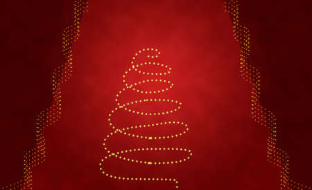 brilliancy: christmas background in red- tree and stars