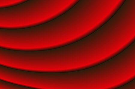 抽象的なイメージの流れる赤いカーテン 写真素材