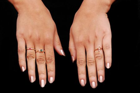 manicured hands: close up of beautiful manicured hands of a girl