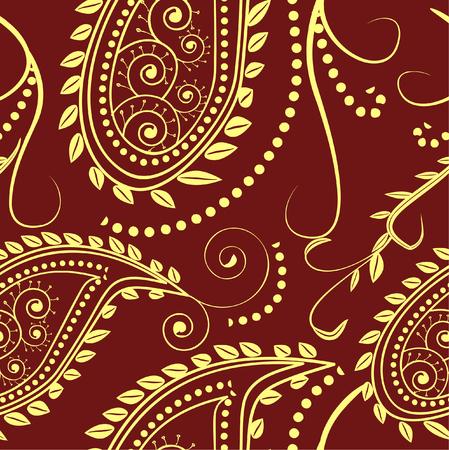 seamless pattern- traditional paisley design Illustration