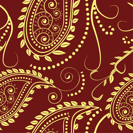 seamless pattern- traditional paisley design Ilustracja