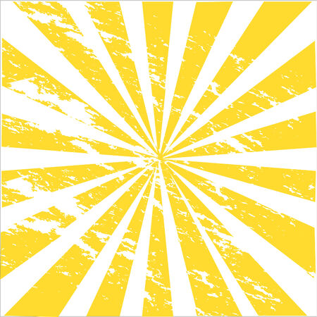 a grungy illustration of sunburst Vector