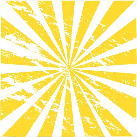 a grungy illustration of sunburst