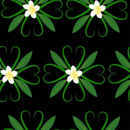 frangipani seamless pattern