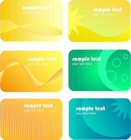 set of colourful business cards Illustration