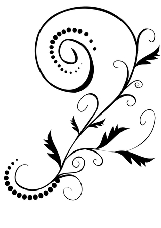 vector illustration- black floral pattern