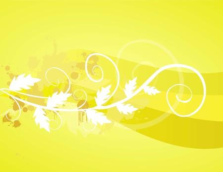 vector illustration- grungy floral design