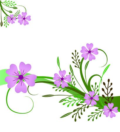 花と装飾図  イラスト・ベクター素材