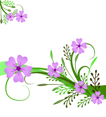 an illustration with flowers and flourishes Vector