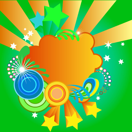 a funky abstract illustration in bright colors Stock Vector - 3387200
