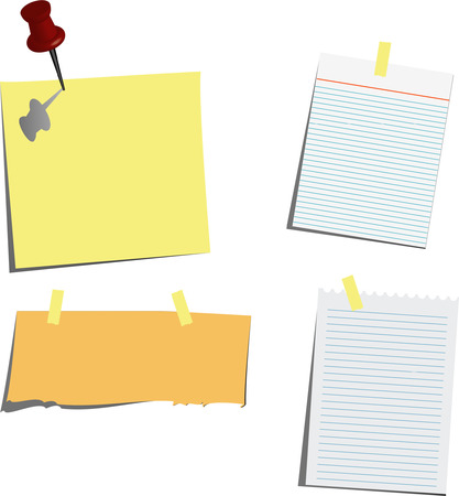 various note papers Vector