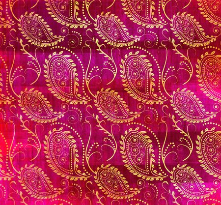 a grungy traditional paisley pattern