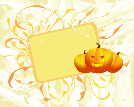 halloween background with pumpkins Illustration