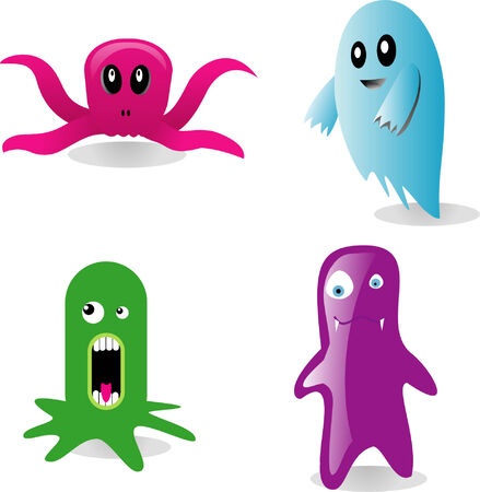 a set of  monsters Vector