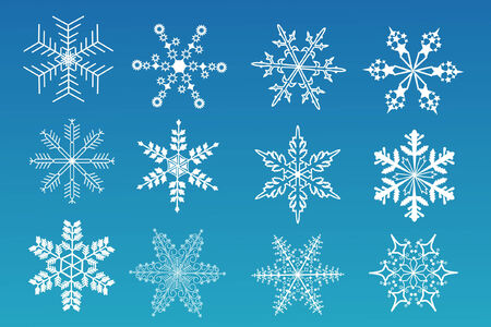 a set of snowflakes Vector