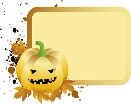 halloween placard with pumpkin Vector