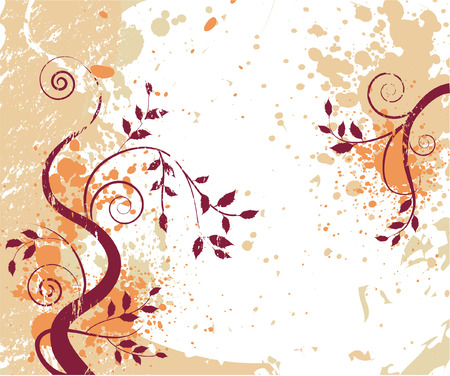 grungy autumn background with swirls