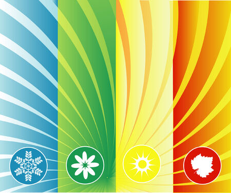 four seasons background can be used seperately or as whole Stock Vector - 3762555