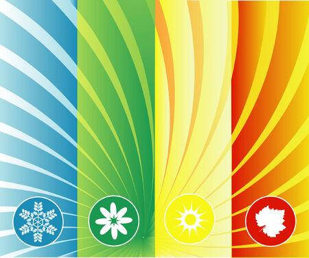 quatre saisons: quatre saisons de fond peuvent �tre utilis�s s�par�ment ou ensemble