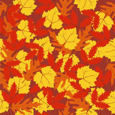 seamless pattern autumn leaves Vector