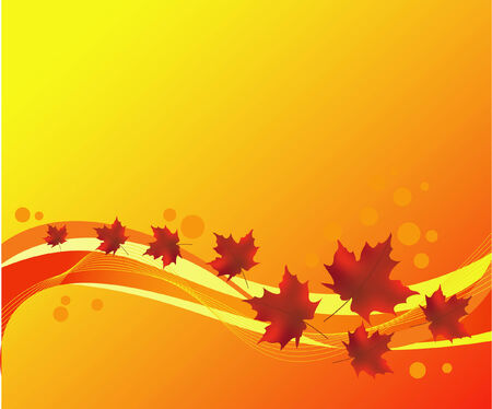 autumnally: abstract background with autumn leaves Illustration